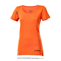 LHASA PRINT ladies short sleeve T-shirt terracotta