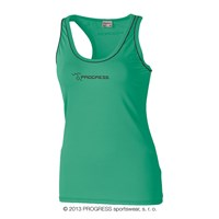 SPIRA ladies rumning sleeveless scooped neck green/black