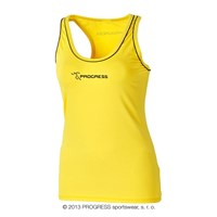 SPIRA ladies rumning sleeveless scooped neck yellow/black