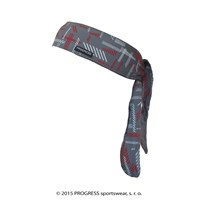 "CEL PRINT fully printed headband tie-back ""HATCHING"" design"