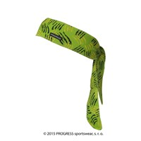 "CEL PRINT fully printed headband tie-back ""GREEN CLAWS"" design"