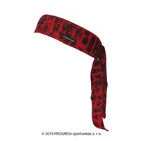 "CEL PRINT fully printed headband tie-back ""RED BRICKS""design"