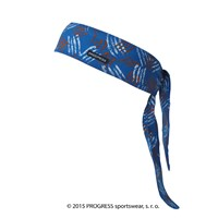 "CEL PRINT fully printed headband tie-back ""BLUE CLAWS"" design"