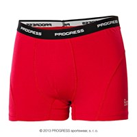 E SKN mens bamboo boxer shorts red