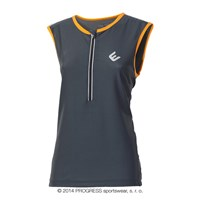 SPIDY mens sleeveless cycling jersey grey/orange