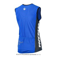 SPIDY mens sleeveless cycling jersey blue/grey