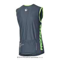 SPIDY mens sleeveless cycling jersey grey/Lt.green