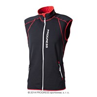 TARTAR mens full zip vest black/red/white