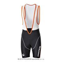AIR BIB mens short bib tights with padding black/white/orange