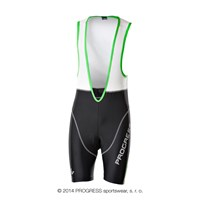 AIR BIB mens short bib tights with padding black/white/green