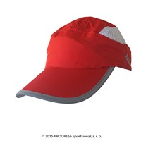 TRAINING CAP peak cap with mesh red/bílá