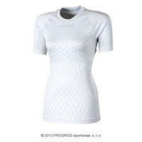 SL NKRZ ladies seamless short sleeve T-shirt white/grey