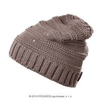 ALTA ladies knitted beanie brown