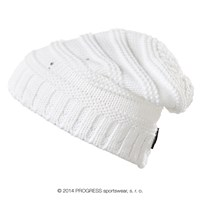ALTA ladies knitted beanie white