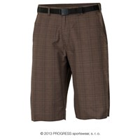 OS IMP 24HF  mens 3/4 pants brown tiny check