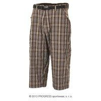 OS IMP 24HF  mens 3/4 pants brown check