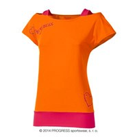 TAIKO ladies training T-shirt orange/pink