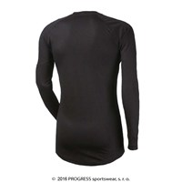 DF NDR PRINT mens long sleeve T-shirt black