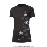 DF NKRZ PRINT ladies short sleeve T-shirt black