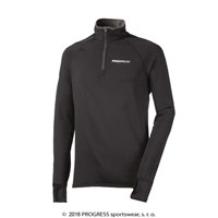 KAMIL mens zip neck pullover black