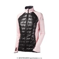 DINARA ladies full zip hybrid jacket Lt.pink/black