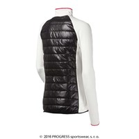 DINARA ladies full zip hybrid jacket white/black