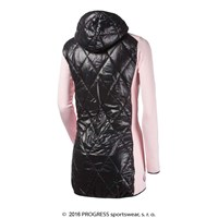 SILVRETTA ladies hooded full zip hybrid coat pink/black