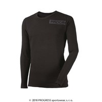 LONGBAR mens long sleeve T-shirt with bamboo black