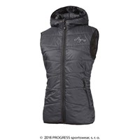 MIRI ladies hooded padded vest anthracite