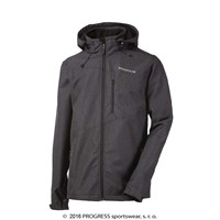NARVIK mens softshell jacket grey pattern