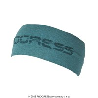 B CEL wide headband with bamboo turquoise melange