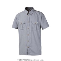 PULSE mens bamboo shirt grey white checks