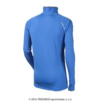 KAMIL mens zip neck pullover blue