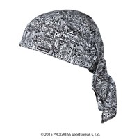 "SAT PRINT fully printed headscarf triangle ""SMOG"" design"