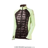 DINARA ladies full zip hybrid jacket Lt.green/black