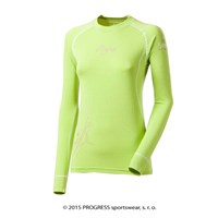 E NDRZ ladies bamboo long sleeve T-shirt Lt.green/white sew.