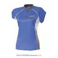 FS+ TKKZ ladies short sleeve jersey blue/grey