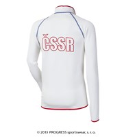 TIMUR mens retro CSSR sports jacket white