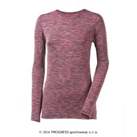 LOCA ladies long sleeve T-shirt pink melange