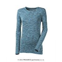 LOCA ladies long sleeve T-shirt  turquoise melange