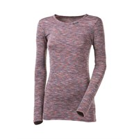 LOCA ladies long sleeve T-shirt - NONSTANDARD light pink melange