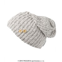 PADLA ladies knitted beanie Lt.grey melange