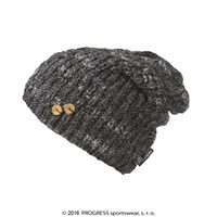 PADLA ladies knitted beanie black melange