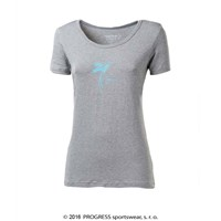 "SASA ladies bamboo T-shirt grey melange - ""bird"""