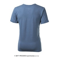 HOPI mens T-shirt blue melange