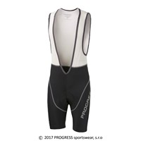 AIR BIB mens short bib tights with padding black/white/grey