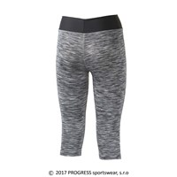 LUNGA 3Q ladies 3/4 leggings black melange