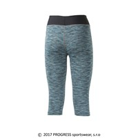 LUNGA 3Q ladies 3/4 leggings turquoise melange