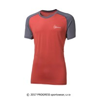 ATHOS mens T-shirt terracotta/grey