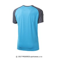 ATHOS mens T-shirt turquoise/grey